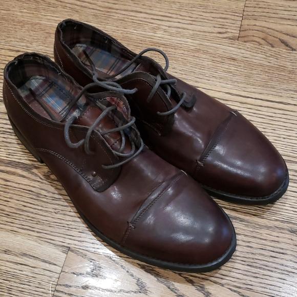 Bed Stu Volstead Ox Cap Toe Brown Leather shoe